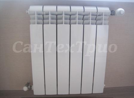 Монтаж батарей отопления в частном доме
