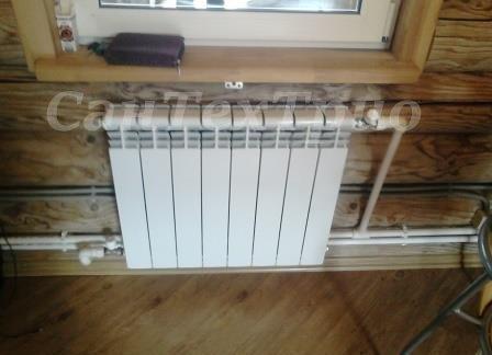 Монтаж радиаторов отопления в частных домах