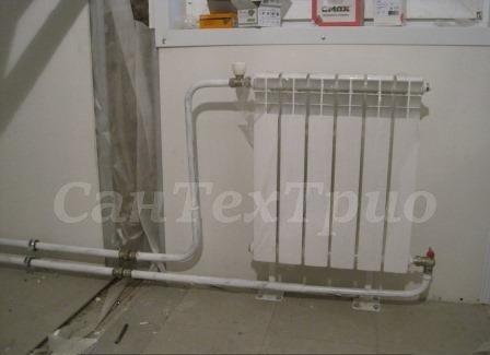 Монтаж радиаторов отопления в доме Екатеринбург