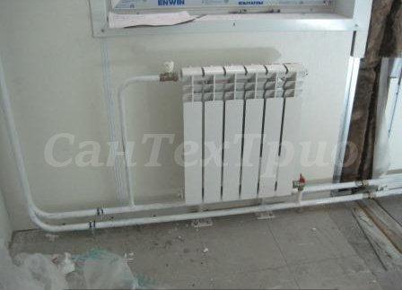 Монтаж радиаторов отопления в доме недорого