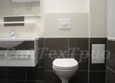 Установка подвесного унитаза в ванной