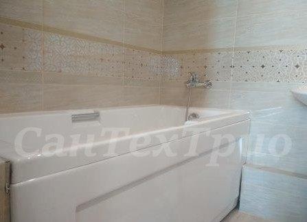 Установка ванны и смесителя